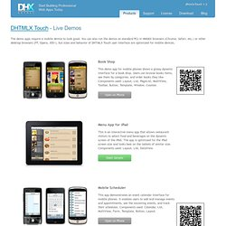 Touch - HTML5 JavaScript Framework for Mobile and Touch Devices - Demos