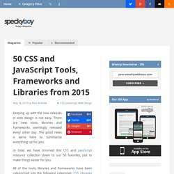 50 CSS and JavaScript Tools, Frameworks and Libraries