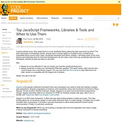Top JavaScript Frameworks, Libraries & Tools and When to Use Them