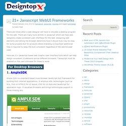 21+ Javascript WebUI Frameworks