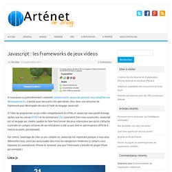 Javascript : les frameworks de jeux videos