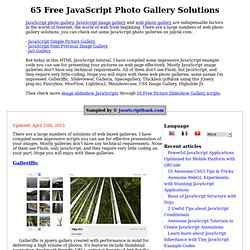 65 Free JavaScript Photo Gallery Solutions