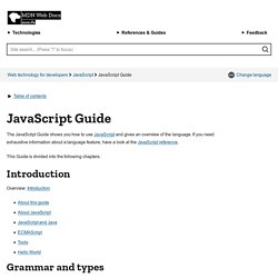 JavaScript Guide - MDC Doc Center