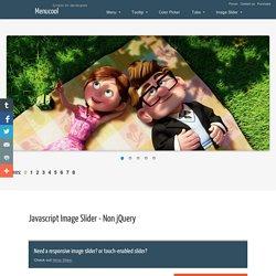 Javascript Image Slider - No jQuery