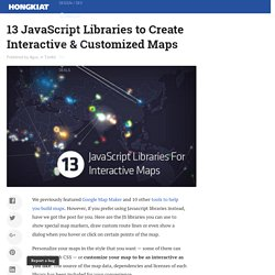 13 JavaScript Libraries to Create Interactive & Customized Maps