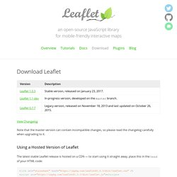 Leaflet - a modern, lightweight JavaScript library for interactive maps by CloudMade - Download