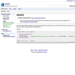jsni - JavaScript Native Interface