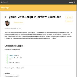5 Typical JavaScript Interview Exercises