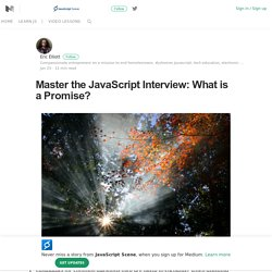 Master the JavaScript Interview: What is a Promise?