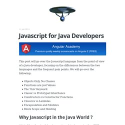 Javascript for Java Developers