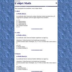L'objet Math