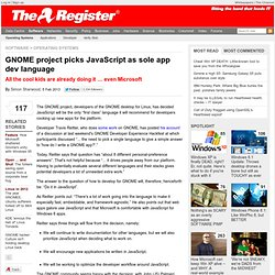 GNOME project picks JavaScript as sole app dev language
