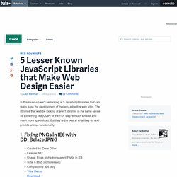 5 Lesser Known JavaScript Libraries that Make Web Design Easier