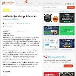 40 Useful JavaScript Libraries