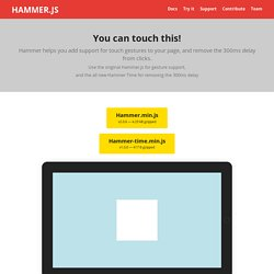 Hammer.js — A javascript library for multi touch gestures