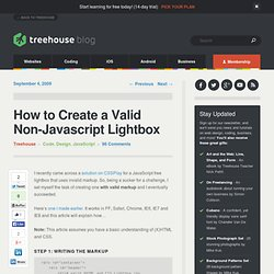 How to Create a Valid Non-Javascript Lightbox