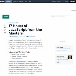 17 Hours of JavaScript from the Masters - Nettuts+
