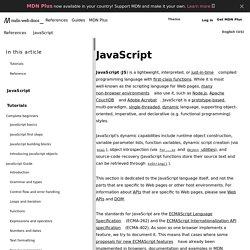 JavaScript - MDC Doc Center
