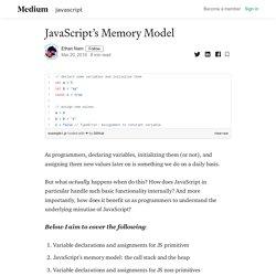 JavaScript's Memory Model - Ethan Nam - Medium