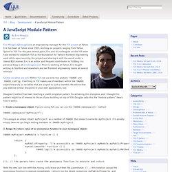 A JavaScript Module Pattern