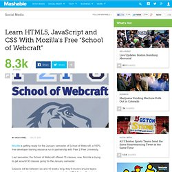 "Learn HTML5, JavaScript and CSS With Mozilla's ""School of Webcraft"