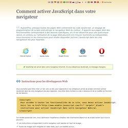 Comment et pourquoi activer JavaScript dans votre navigateur Internet