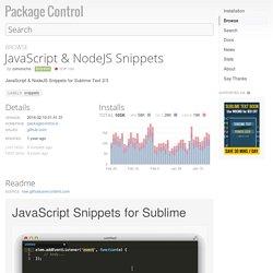 JavaScript & NodeJS Snippets