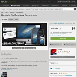 Mountain Notifications Responsive