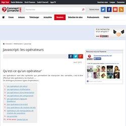 Javascript: les opérateurs