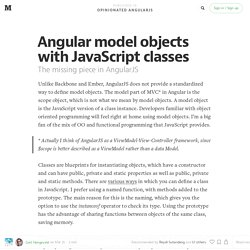 Angular model objects with JavaScript classes — Opinionated AngularJS