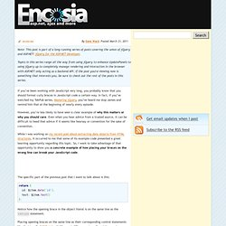 In JavaScript, curly brace placement matters: An example » Encosia