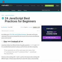 24 JavaScript Best Practices for Beginners