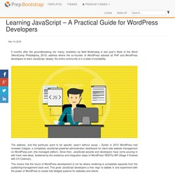Learning JavaScript – A Practical Guide for WordPress Developers