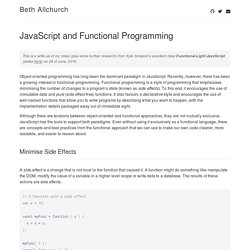 JavaScript and Functional Programming – Beth Allchurch