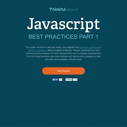 JavaScript Best Practices Part 1