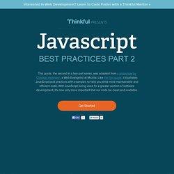 JavaScript Best Practices Part 2