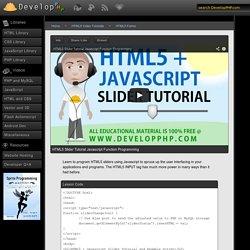 HTML5 Slider Tutorial Javascript Function Programming