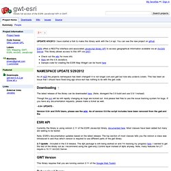 gwt-esri - Allows full access of the ESRI JavaScript API in GWT.