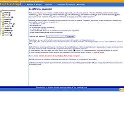 Référence javascript : Objets, propriétés, méthodes par Tout JavaScript.com