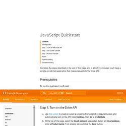 JavaScript Quickstart