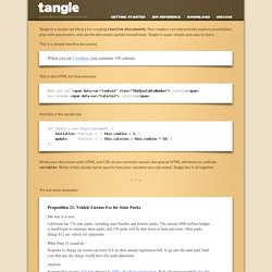 Tangle: a JavaScript library for reactive documents
