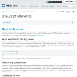 JavaScript Reference - MDC Doc Center