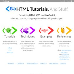 HTML and CSS Tutorials, References, and Articles