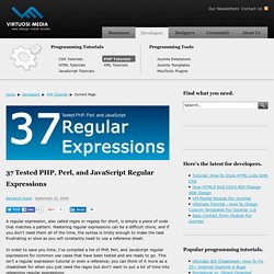 37 Tested PHP, Perl, and JavaScript Regular Expressions
