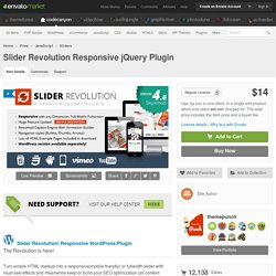 JavaScript - Slider Revolution Responsive jQuery Plugin