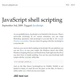 JavaScript shell scripting / phpied.com