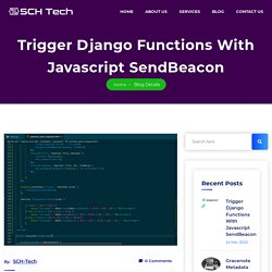 Django Bespoke Web Applications