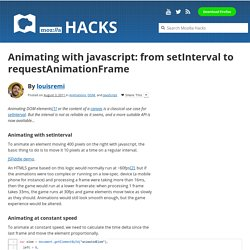 Animating with javascript: from setInterval to requestAnimationFrame