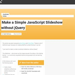 Make a Simple JavaScript Slideshow without jQuery