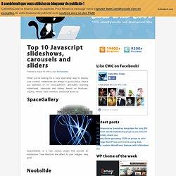 Top 10 Javascript slideshows, carousels and sliders